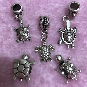 Jewelry - Handmade Vintage Turtle European Silver Charm
